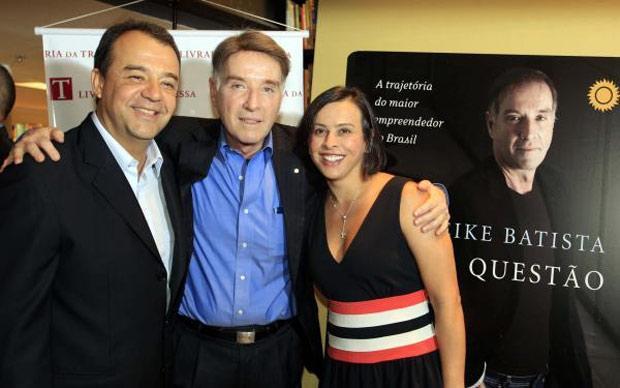 Sérgio Cabral, Eike Batista e Adriana Ancelmo