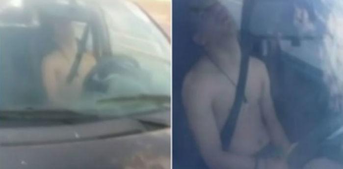 Motoristas dormem no volante