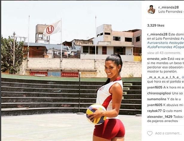 Rocio Miranda joga pelo Universitario (Crédito: Reprodução)
