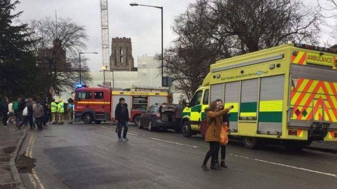 Universidade foi evacuada (Crédito: Reprodução)