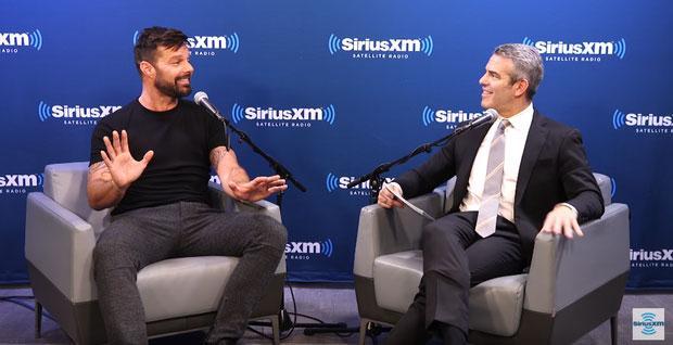 Ricky Martin durante entrevista