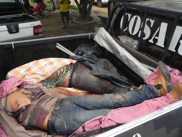 Corpos de dois dos três acusados mortos em confronto