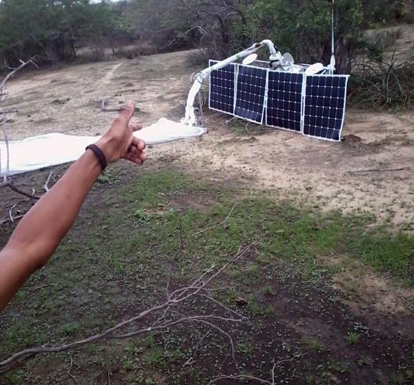 Balão do Google cai e assusta moradores no interior do Piauí