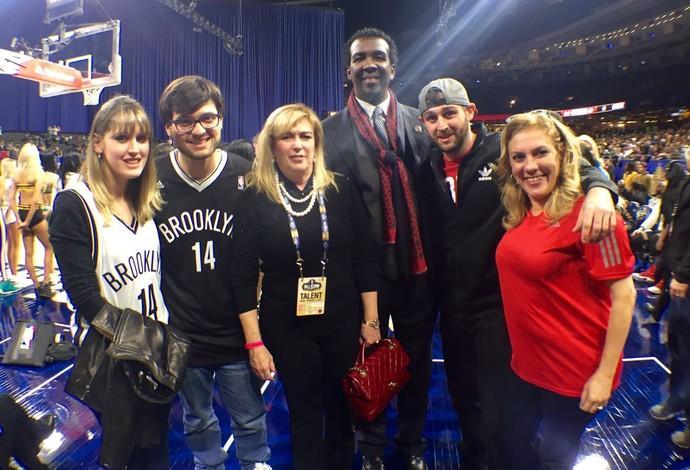 Família e amigos de Oscar Schmidt compareceram no Jogos das Celebridades