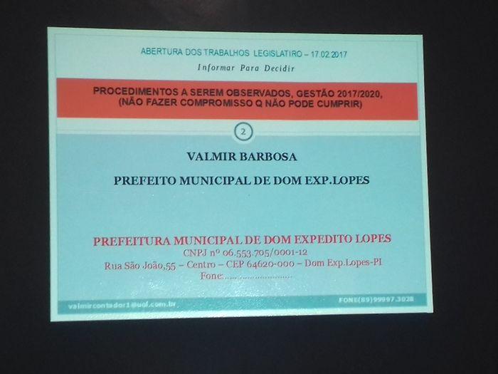 Prefeito Valmir Barbosa abre trabalhos na Câmara Municipal - Imagem 24
