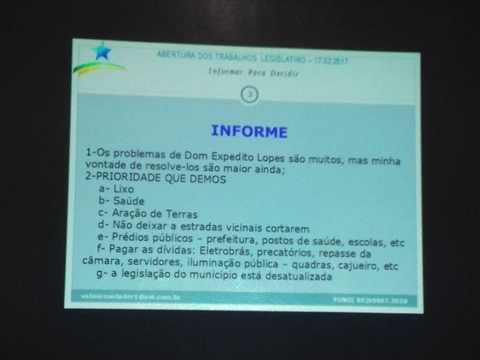 Prefeito Valmir Barbosa abre trabalhos na Câmara Municipal - Imagem 29