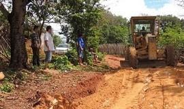 Município recupera trecho de estrada cortado pelas fortes chuvas