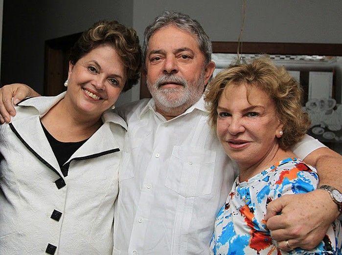 Dilma, Lula e Dona Marisa