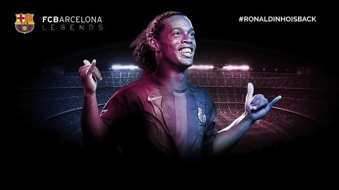 Ronaldinho Gaúcho fará parte do FCBarcelona Legends (Crédito: Reprodução)
