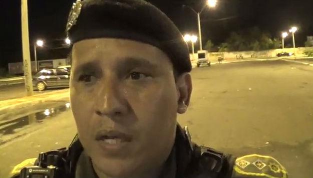 Major Pessoa, Comandante do 5ª Batalhão da Polícia Militar (Crédito: Rede Meio Norte)