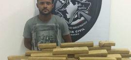 Jovem é preso com 120 kg de maconha em cidade do Maranhão