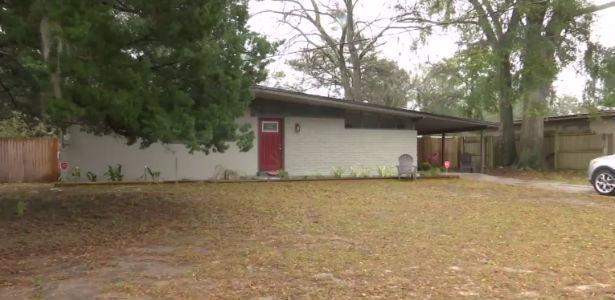 Casa onde aconteceu o incidente (Crédito: Reprodução)