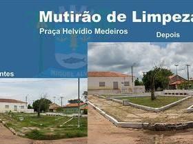 Prefeitura de Miguel Alves faz mutirão de limpeza no município