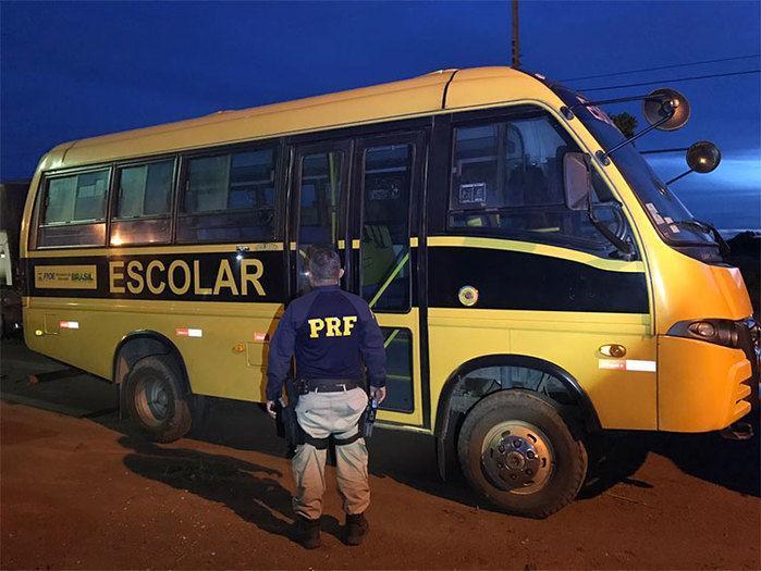 Ônibus apreendido (Crédito: Reprodução)