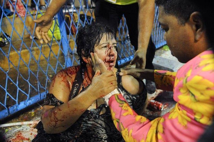 Uma das pessoas feridas no acidente da Paraíso do Tuiuti foi a fotógrafa Lúcia Mello (Crédito: Reprodução)
