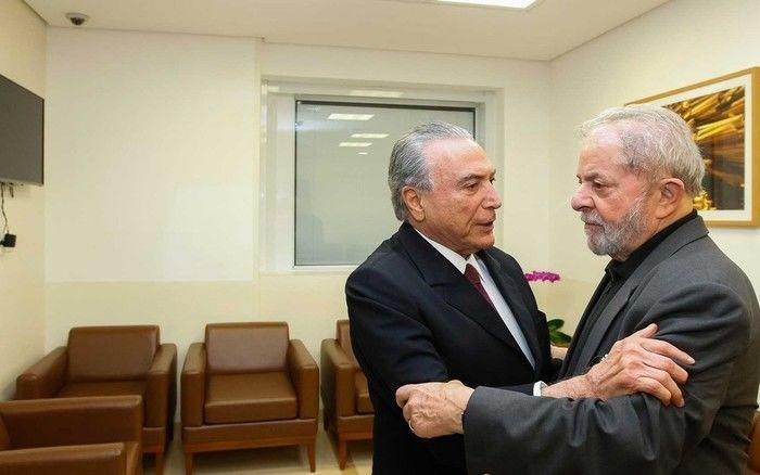 Presidente Michel Temer e Lula