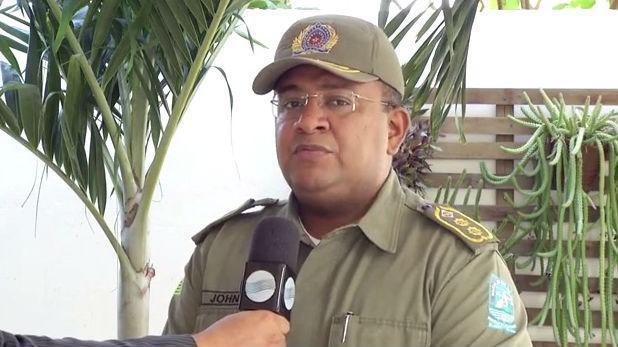 Tenente-coronel John Feitosa, relações públicas da Polícia Militar (Crédito: Rede Meio Norte)