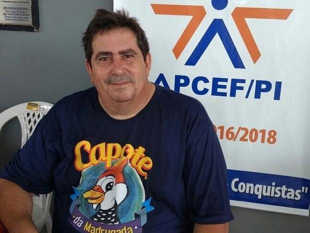 Mário Aragão Pereira, presidente do bloco Capote da Madrugada (Crédito: Ascom/APCEF/PI)
