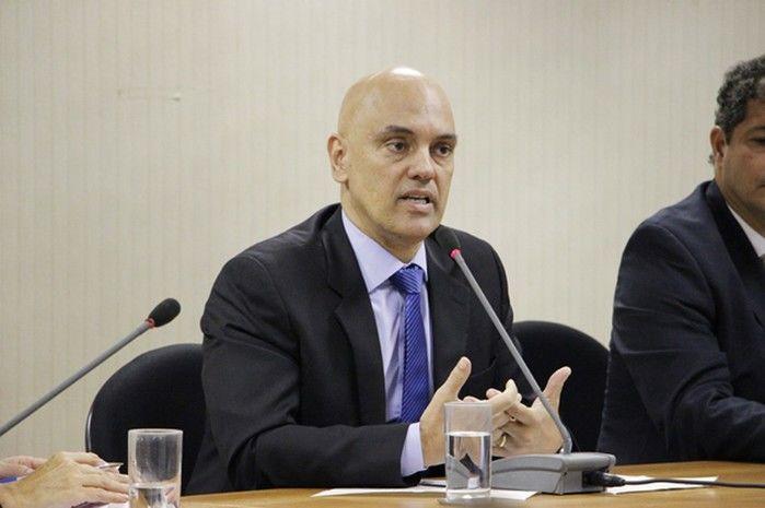 O ministro da Justiça, Alexandre de Moraes, durante evento em Brasília sobre o combate ao trabalho escravo