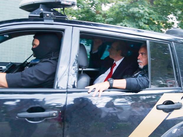 Eduardo Cunha chega para depor para Sérgio Moro