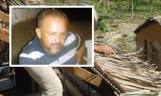 Teto de casa de palha desaba e mata homem em São João do Arraial