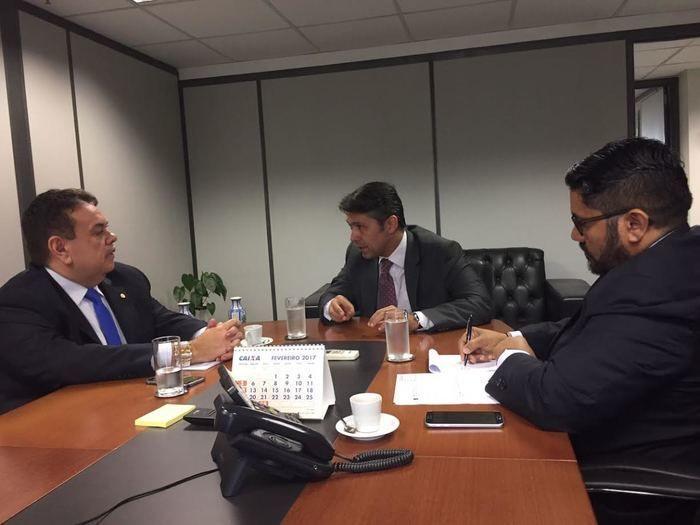 Silas Freire em audiência com o presidente nacional do INSS (Crédito: Reprodução)