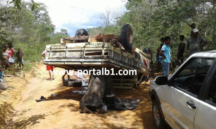 Colisão entre caminhonetes deixa 11 feridos em Redenção do Gurgueia (Crédito: Portalb1)