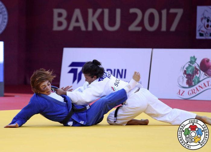 Sarah Menezes não conseguiu vencer na disputa pelo terceiro lugar