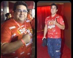 André Marques posta antes e depois, e celebra perda de 75kg