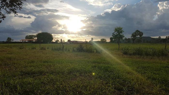 Luz do Sol na paisagem