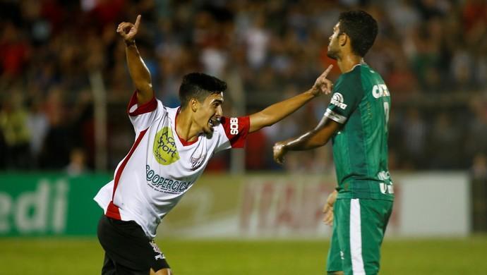 Brayan comemora gol do Paulista que eliminou a Chapecoense da Copinha (Crédito: Reprodução)