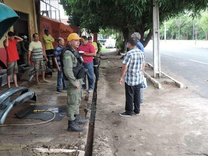 Operação para desobstruir calçadas da zona sul (Crédito: Reprodução)