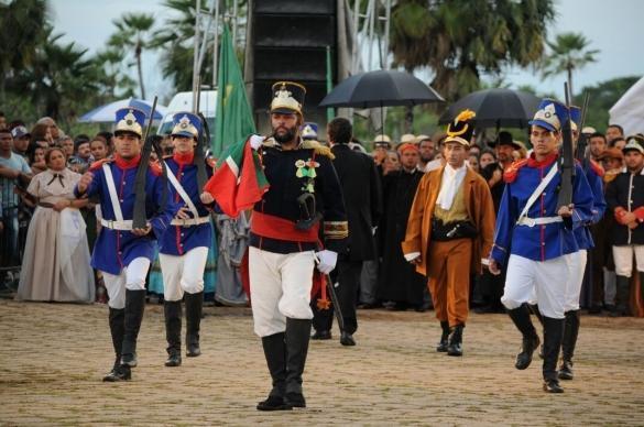 "Peça teatral ""A Batalha do Jenipapo"" (Crédito: Francisco Gilásio)"