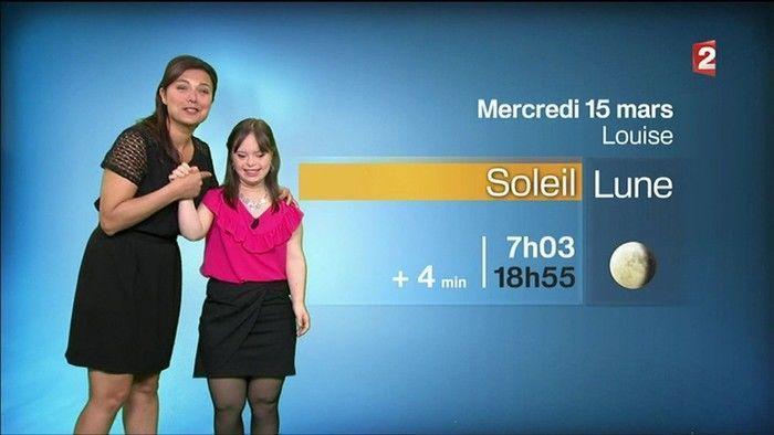 Mélanie Ségard, de 21 anos, tinha o sonho de apresentar a previsão do tempo (Crédito: BBC)