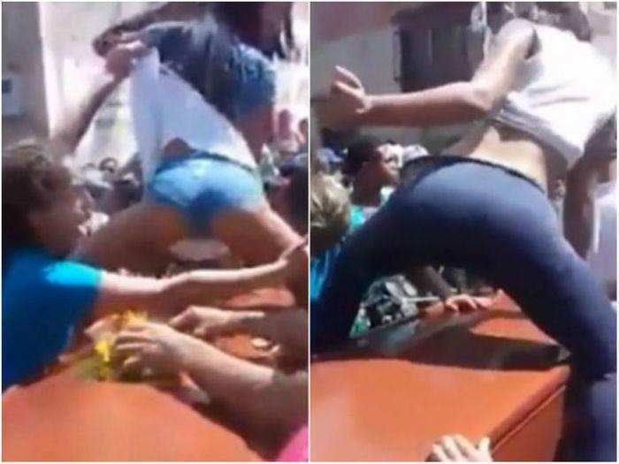 Garotas dançam e sensualizam em cima do caixão do morto