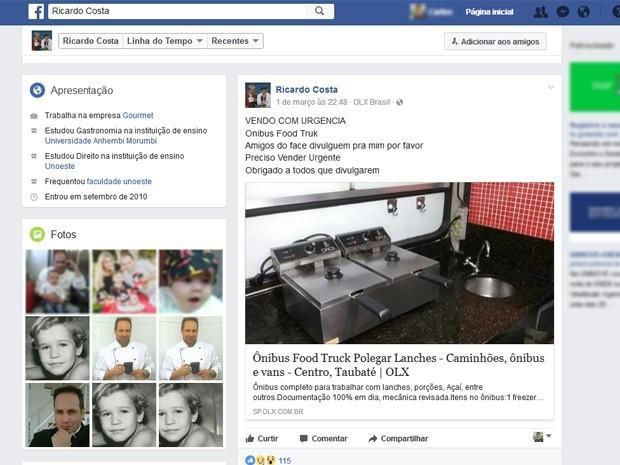 Food-truck é anunciado na internet por R$ 145 mil