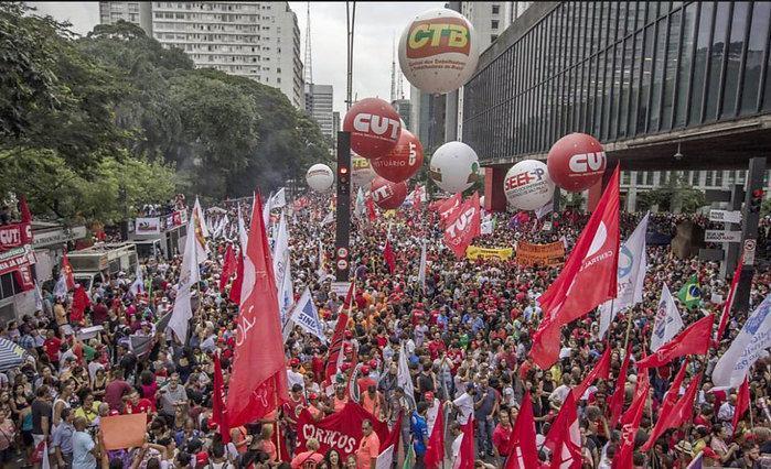 Protesto contra as reformas trabalhista e da Previdência