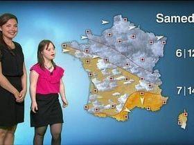 Garota com Down realiza sonho de apresentar previsão de tempo