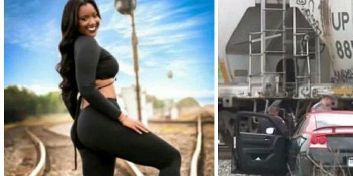 Modelo grávida morre após ser atingida por trem ao fazer fotos
