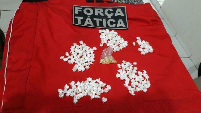 Droga encontrada com Mayara Lima (Crédito: Divulgação)