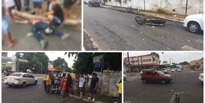 Motociclista morre atropelado e motorista foge após acidente