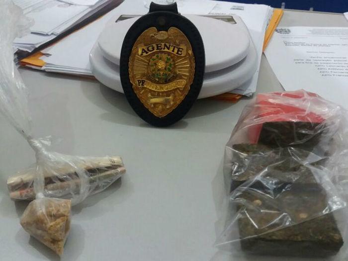 Droga apreendida com as acusadas em Esperantina (Crédito: Divulgação)