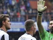 Juventus vence o Sampdoria durante jogo no Estádio Luigi Ferraris