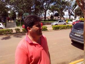 Prefeito de Ibirapuitã Rosemar Hentges depois do assalto. (Crédito: Reprodução)