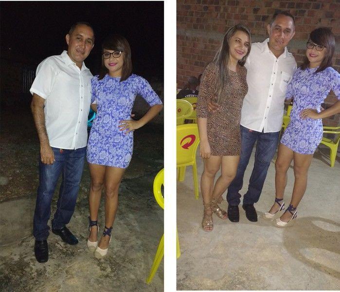 Edilene Lima (Crédito: Aristeu Carvalho e Esposa mais a Josélia organizadora da festa)