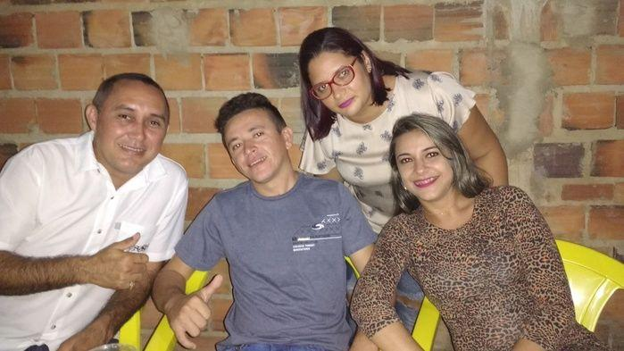 Aristeu, Demar, Josélia e sua prima Chaguinha (Crédito: Edilene Lima)