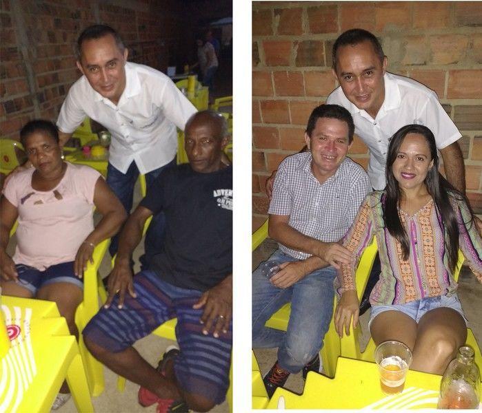 Foto a esquerda Aristeu, Maria dos Anjos e Domar e a foto a direita Júnior e sua esposa Lindinalva (Crédito: Edilene Lima)