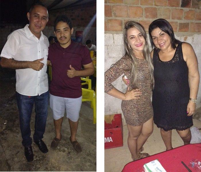 Foto à esquerda, Kelvin Queiroz e à direita Josélia e Genuídes (Crédito: Edilene Lima)