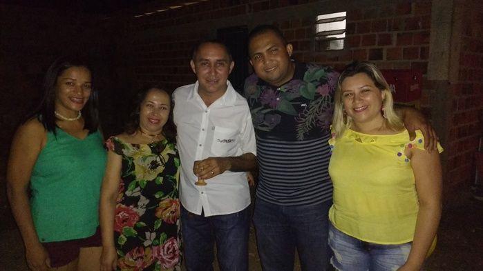 Everana, Vânia, Aristeu, Vereador Regis do Brejo e Joselândia (Crédito: Edilene Lima)