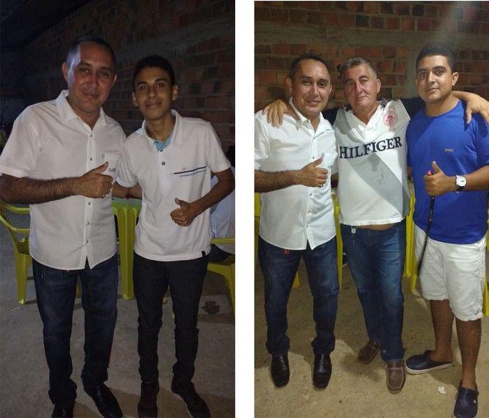 Foto à esquerda Aristeu e Júnior Rasta e à direita os amigos Nenzão e Rarison (Crédito: Edilene Lima)